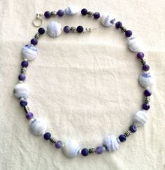 Lilac & white necklace