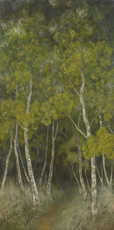 相思樹林 謝依珊 膠彩畫 200x100cm