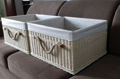 Плетение из газет Storage Baskets, Hamper, Organization, Home Decor, News, Getting Organized, Organisation, Interior Design, Home Interior Design