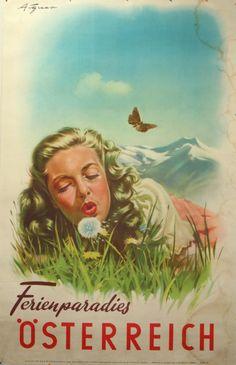 Original Vintage Posters -> Travel Posters -> Ferienparadies Osterreich - AntikBar