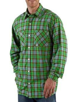 Carhartt Mens S254 Long Sleeve Lightweight Plaid Shirt - Greenland | Buy Now at camouflage.ca
