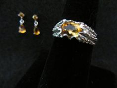'Citrine Earrings & Ring' is going up for auction at 10pm Sat, Aug 25 with a starting bid of $25.