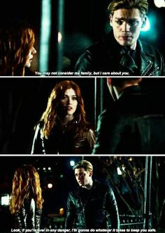 """I'm gonna do whatever it takes to keep you safe."" Jace and Clary in 2x17 #Shadowhunters"