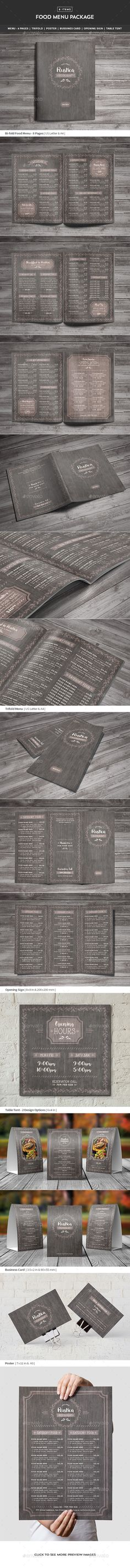 Restaurant Food Menu Package — Photoshop PSD #poster #food • Available here → https://graphicriver.net/item/restaurant-food-menu-package/17559752?ref=pxcr