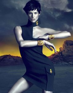 Saskia de Brauw for Versace Fall 2011 Ad Campaign by Mert and Marcus Sean O'pry, Editorial Fashion, Fashion Art, Fashion Pics, Spring Fashion, Versace Eyewear, Versace Versace, Supermodels, High Fashion