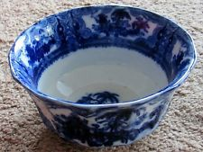 """ADAMS CHINA """"KYBER"""" PATTERN FLOW BLUE BOWL, CIRCA 1800's----just like my chippy one!!!"""