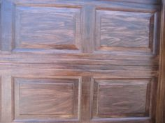 Garage doors by generalfinishes on pinterest wood garage for Faux painting garage doors look like wood