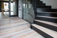 Oak wooden floor. Nice and light!