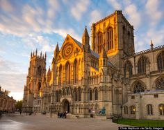York Minster is a cathedral in York, England, and is one of the largest of its kind in Northern Europe. The minster is the seat of the Ar. York England, York Uk, York Minster, Places In Europe, Places To Travel, The Places Youll Go, Places To See, Destinations, Church Of England