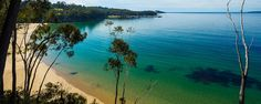 Right opposite South Coast Holiday Parks Eden-beautiful Aslings Beach Eden NSW Australia