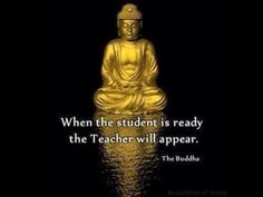 when the student is ready, the teacher will appear...