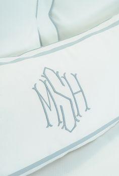Monogrammed bedding ~