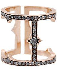 Sylva & Cie Diamond Cage Ring pink - Lyst
