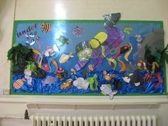 Under the sea swimmer Display, classroom display, class display, deep sea diver, fish, ocean, crab, octopus,Early Years (EYFS), KS1 & KS2 Primary Resources
