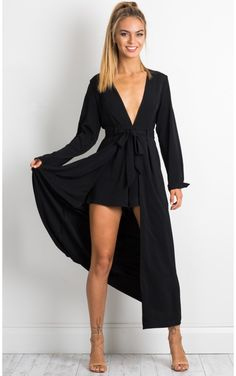 In The Night playsuit in black
