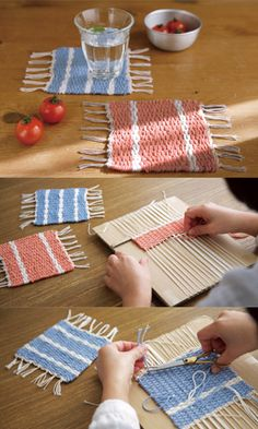 Woven mats. Great for coasters or under bowls and such.