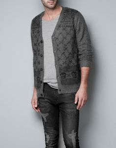 PATTERNED CARDIGAN - Knitwear - Man - ZARA United States