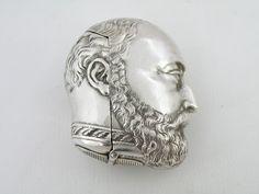 Antique Vesta case/match safe-Prince of Wales/King Edward VII