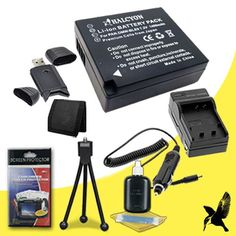 Halcyon 1400 mAH Lithium Ion Replacement DMW-BLE9 Battery and Charger Kit + Memory Card Wallet + SDHC Card USB Reader + Deluxe Starter Kit for Panasonic LUMIX DMC-GF5X 12 Megapixel Digital Camera and Panasonic DMW-BLE9 - http://coolreviews.buyingmanual.com/halcyon-1400-mah-lithium-ion-replacement-dmw-ble9-battery-and-charger-kit-memory-card-wallet-sdhc-card-usb-reader-deluxe-starter-kit-for-panasonic-lumix-dmc-gf5x-12-megapixel-digital-camera-and.html
