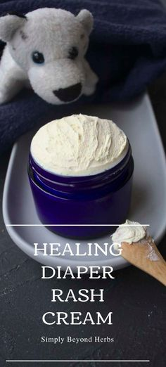 This homemade diaper rash cream soothes and relieves rash discomfort by creating a protective barrier on the skin that allows the skin to heal.
