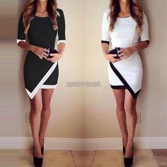 Fashion Womens Bandage Bodycon Asymmetric Evening Sexy Party Cocktail Mini Dress #Unbranded #AsymmetricalHem #Casual