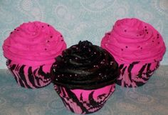pink and zebra cupcakes