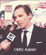 :) Benedict and his fangirl moment. GIF