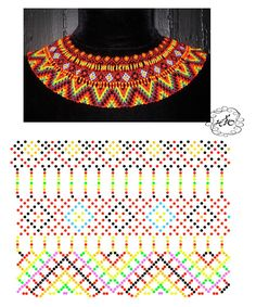 Diy Necklace Patterns, Bead Loom Patterns, Beaded Jewelry Patterns, Beading Patterns, Beading Techniques, Beading Tutorials, Beaded Crafts, Beaded Collar, Bead Jewellery