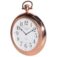 Tower Bridge Copper Finish Wall Clock - La Maison Chic