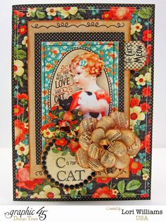Raining Cats and Dogs with Graphic 45 - Created by Lori Williams of Pinkcloud Scrappers