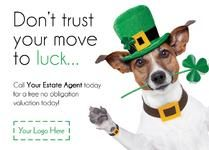 E0548 - St Patricks Day themed leaflets for estate agents by @estateagentleaflets - Visit our website for more info! #stpatricksday #luck #estateagentleaflets #estateagents