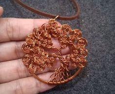 How To Make Wire Work Pendant: Tree of Life by Lan Anh - DIY Jewelry Making