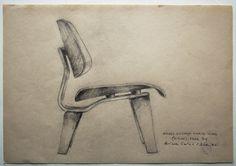 Original Drawing, Eames love (LCW), 2012.. €75,00, via Etsy.