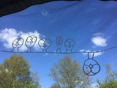 Birds on a wire ( the weird version)