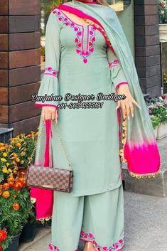 Punjabi Suit Boutique, Punjabi Suits Designer Boutique, Boutique Suits, Fancy Dress Design, Stylish Dress Designs, Stylish Dresses, Punjabi Fashion, Indian Bridal Fashion, Embroidery Suits Design
