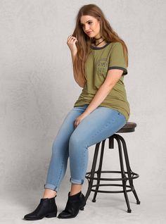 Graphic Stripe Tee | LOVESICK. Plus size fashion for curvy engineers.