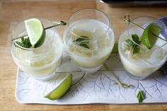 the consolation prize (a pineapple, lime, coconut and mint mocktail)- smitten kitchen