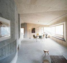Swedish interior, combination of concrete and wood