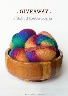 7 Skeins Of Kaleidoscopic Yarn Giveaway with Bonita Patterns!