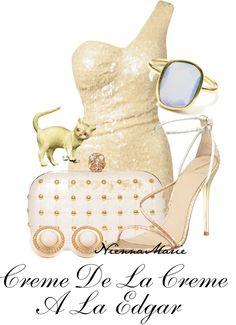 """Creme De La Creme A La Edgar"" by niennamarie ❤ liked on Polyvore"