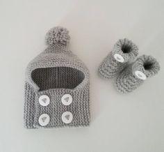 Bonnet cagoule et chaussons pour bébés de naissance à 12 mois Bonnet Bébé,  Layette Bébé 87731f44f20