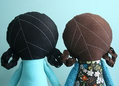 back of doll head idea quick and easy felt hair for plushies and dolls