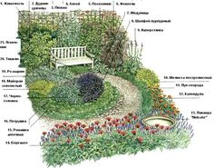 Garden Plans - bird bath surrounded by bee and butterfly ...