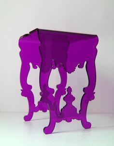 Mesa Lateral Violeta Nada Se Leva para Allê Design