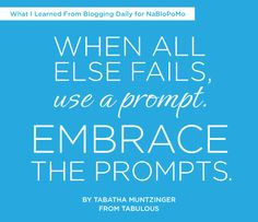 {THAT'S ME! I SAID THAT!} 8 Blog-Changing Lessons Learned From NaBloPoMo by Julie Ross Godar