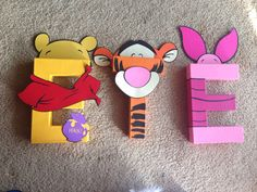Winnie the Pooh Letter Kit Pooh Bear por PrettyPartiesndPaint