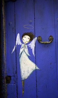 paint a Garden Angel on your gate.