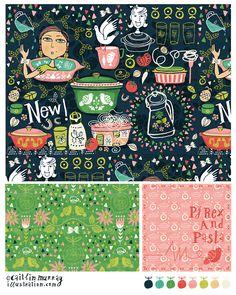 Pyrex and Pasta PORTFOLIO - caitlinmurrayillustration.com