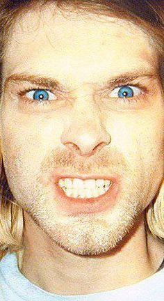 Kurt Cobain ( oh my god look at those beautiful eyes:D)