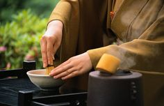 """Japanese Tea Ceremony The Japanese tea ceremony, also called the Way of Tea, is a Japanese cultural activity involving the ceremonial preparation and presentation of Matcha, powdered green tea. In Japanese, it is called """"Sado"""". Zen Buddhism was a primary influence in the development of the Japanese tea ceremony.  Tea gatherings are classified as an informal http://japanculturereview.japan-shops.com/japanese-tea-ceremony/"""
